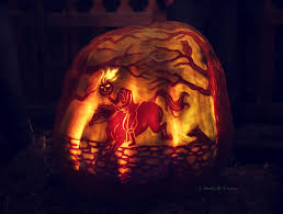 Free Headless Horseman Pumpkin Carving Stencils by The Universe As I See It Fun With Knives 20 Incredible Carved