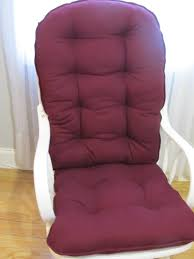 100 Burgundy Rocking Chair Glider Or Cushion Set In Wine Solid Or