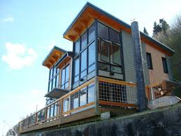 Camano Island FabCab is a Timber Frame Prefab Kit House in
