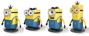 despicable me 2 easy to build minions paper toys by uhu four