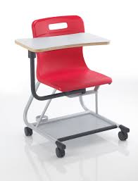 Titan Teach T300 Chair With Wrinting Tablet Age 13-Adult Years Red