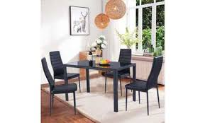 Shop Groupon Modern Table And Chair Kitchen Dining Set 5 Piece