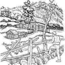 With This Free Countryside Atmosphere Adults Coloring Pages I Hope You Will Get The Best And Fresh Nature Feeling Who Can Bring Coolness Comfort