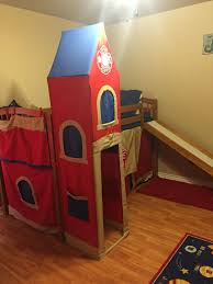 100 Fire Truck Loft Bed Best With Slide And Dresser For Sale In Shawnee