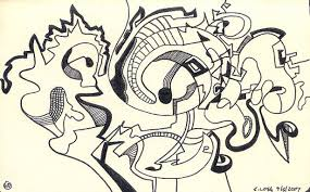 Moleskine Book 2 Page 40 By Steve Loya An Abstract Ink Line Drawing