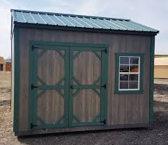 10x12 Metal Shed Kits by 10x12 Garden Shed Green Steel Roof With Matching Green Trim Lp