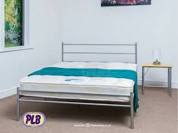 the celia silver bed frame metal frame easy assembly