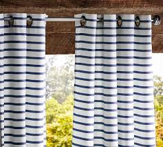 sunbrella brice stripe indoor outdoor drape pottery barn