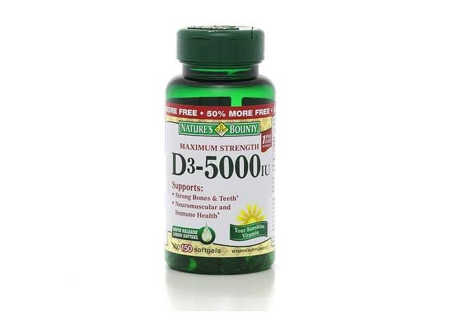 Nature's Bounty D3 5000IU - 150 Softgels