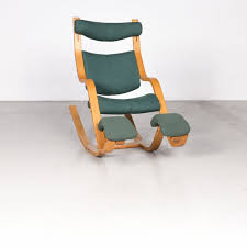 Stokke Gravity Balans Designer Fabric Armchair Green Rocking Chair By Peter  Opsvik #7677