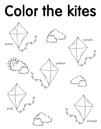 41 Spring Printables For Preschool Free Primitive Printable Kite Coloring Sheets