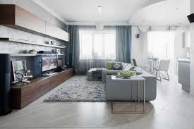 Small Apartment Decorating with Light Cool Colors Contemporary