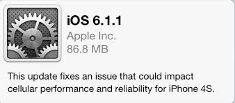 iOS 6 1 1 iPhone 4S Firmware Update Available For Download