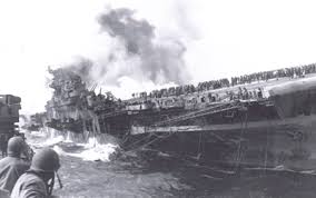 Uss America Sinking Location by The Lost American Aircraft Carriers