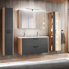 badezimmer hochschrank 2 türig matera 56 matt grau artisan eiche b h t ca 35 170 30cm