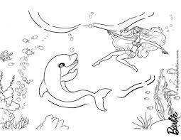 Barbie Mermaid Tale Coloring Pages Zuma Dolfin Friend 212003 For Free 2015