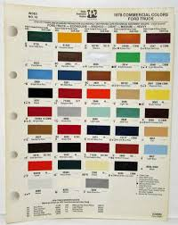 100 Ford Truck Colors 1978 Commercial Color Paint Chips By Ditzler PPG