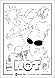 Image Of Hot Day Colouring Page