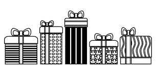 Present black and white pictures of presents clip art library