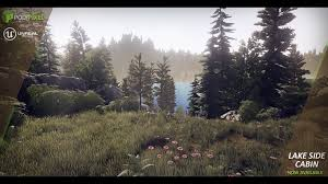 Lake Side Cabin by PolyPixel in Environments UE4 Marketplace