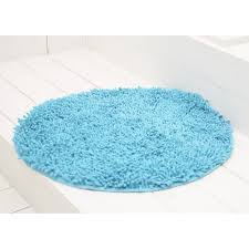 badezimmerteppich rund chenille scuba blue