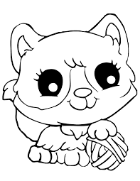 Squinkies Cat Coloring Page Powerballforlife And Dog Pages