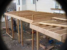 Free Standing Deck Bracing by Elevated Deck Construction Home U0026 Gardens Geek