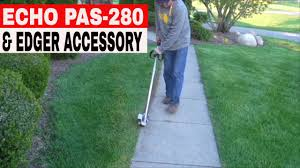 Echo Bed Redefiner by Echo Pas 280 Power Attachment Series Lawn Edger Youtube
