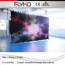 Music Studio Equipment Led Background Color Video Curtain Light Stage DJ Booth Cheap P60mm 25x4m In Lighting Effect From Lights