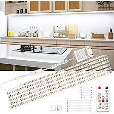 wobsion led unterbauleuchte 3m weiß led streifen schranklicht küchenbeleuchtung helle lichtleiste mit drahtlose fernbedienung 6x50cm led