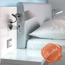 wall mounted led reading lights for bedroom swing arm lighting