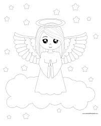 Angel Coloring Sheets Printable Free