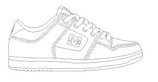 DC Shoe Coloring Pages