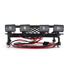 100 Truck Light Rack RC CAR Roof Luggage Carrier General Type With 4 Round LED