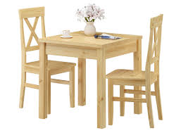stuhl und tischgruppe mit esstisch und 2 stühlen kiefer massivholz 90 70 50 c set 23