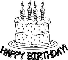Happy Birthday cake slice drawing