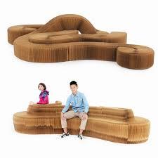 Sustainable furniture cardboard sofa