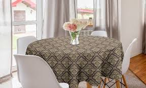 abakuhaus tischdecke kreis tischdecke abdeckung für esszimmer küche dekoration orientalisch antike curly damast kaufen otto