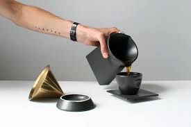 This Matte Black Porcelain Pour Over Coffee Press Is The Perfect Addition To