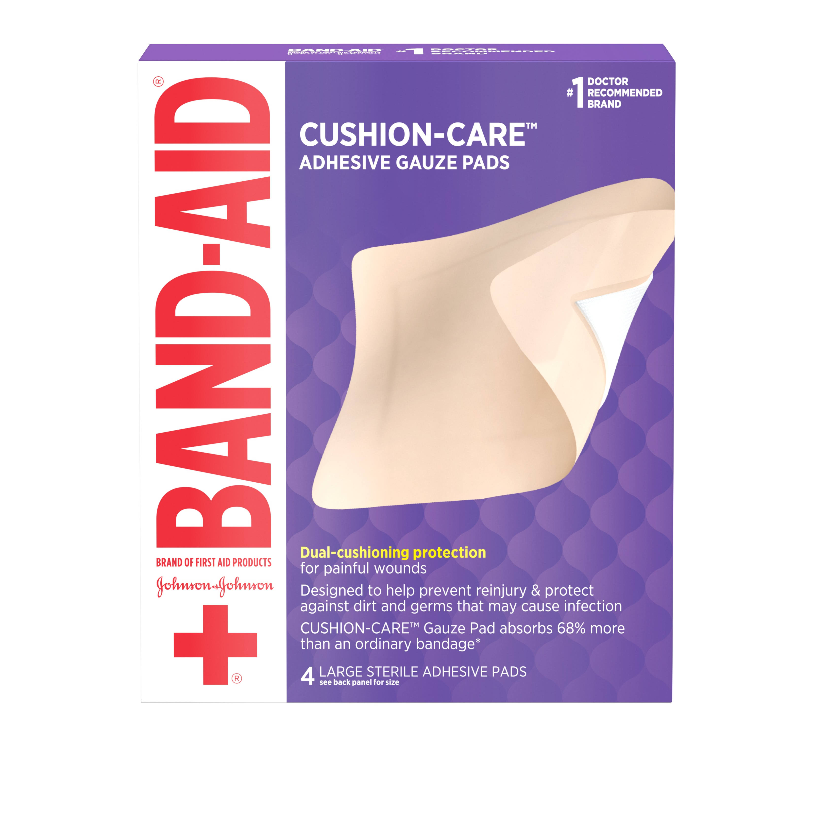 Band-Aid All-in-One Adhesive Gauze Pad - 4 ct