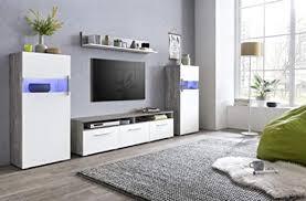 wohnwand solita 4er set beton weiß wohnzimmerwand