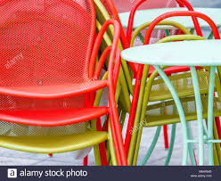 Stacked Yellow Chairs Stock Photos & Stacked Yellow Chairs ...