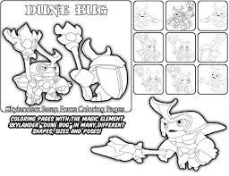 Printable Coloring Page For Kids With Skylanders Swap Force DUNE BUG