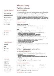 Facilities Manager Resume Property Maintenance Job Description
