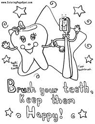 Free Dental Coloring Pages For Kids To Color And Teeth Drawing