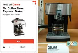Today Only Head Here To Load A High Value 40 Off Mr Coffee Steam Espresso Maker Cartwheel This Makes For Nice Deal If Youre In The Market An