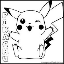 Pokemon Pickachu Smiling Coloring Page Printables For Kids Free Word Search Puzzles Pages And Other Activities