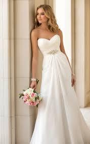 2015 trend chiffon strapless sweetheart slim a line wedding dress