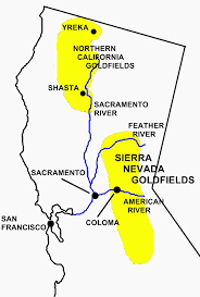 California Gold Rush Outline Simply Simple