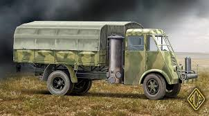 Ace Military Models 1/72 AHN French 3.5-Ton Truck W/Gas Generator ...